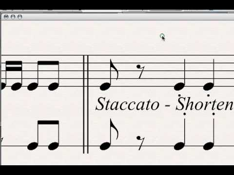 Staccato And Legato Explained!