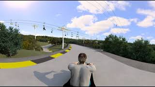 VR 360 Degree Luge Animation