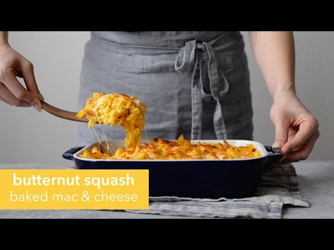 Butternut Squash Baked Mac and Cheese