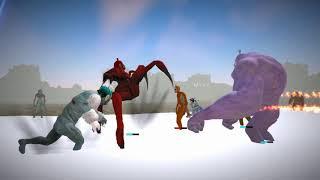 Let's play Slendytubbies 3 (Sandbox mode) - The trio friends and Samson Vs The Teletubbies