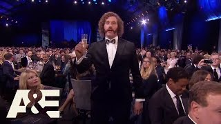 t j miller gives a toast   22nd annual critics choice awards   a