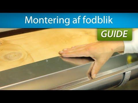 Fodblik - Montering sammen med tagrende