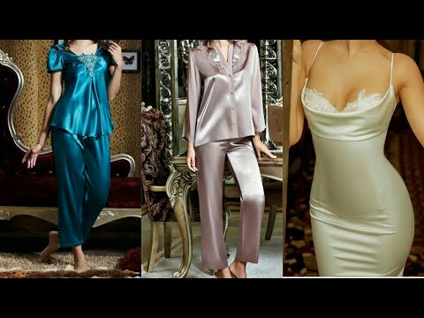 Nice,trendy,silk clothing,silk sleepwear dresses for women and girls