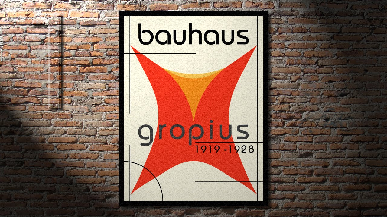 Parts of a poster design - Photoshop Tutorial Part 1 How To Create A Classic Bauhaus Poster Design 2