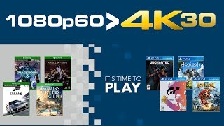 1080p60 BETTER than 4K30 Console Parity Resolution Xbox One X & PS4 Pro