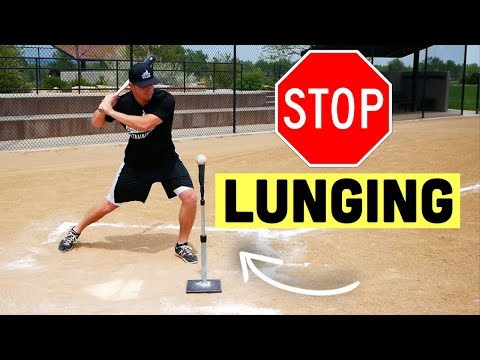 How To FINALLY Stop Lunging In Your Baseball Swing! from YouTube · Duration:  10 minutes 18 seconds