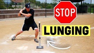 How To FINALLY Stop Lunging In Your Baseball Swing!