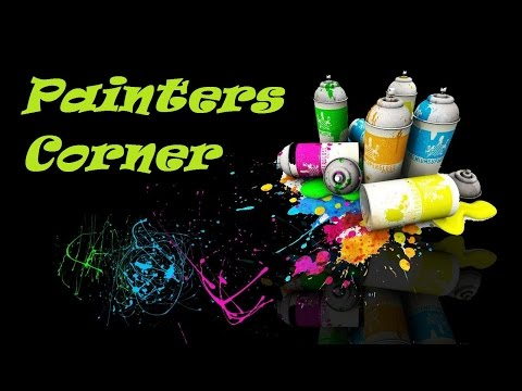 Painters Corner #5 Can you Spray Paint on Canvas