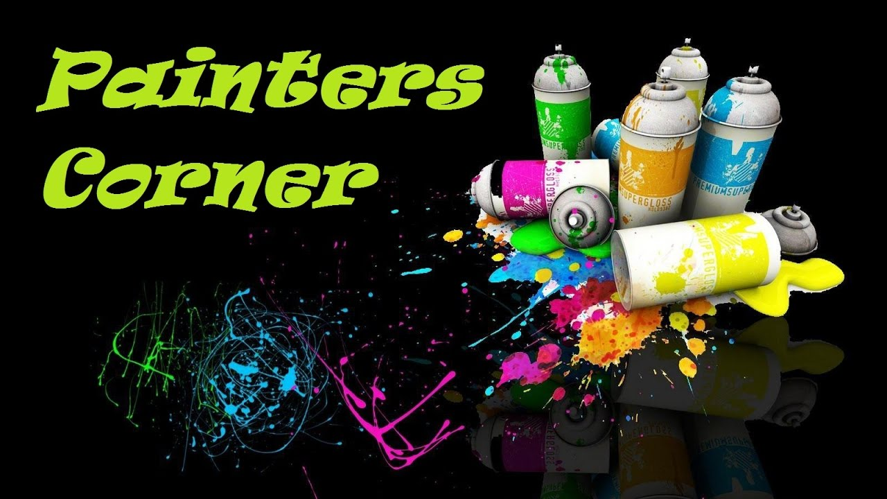 painters corner 5 can you spray paint on canvas youtube. Black Bedroom Furniture Sets. Home Design Ideas