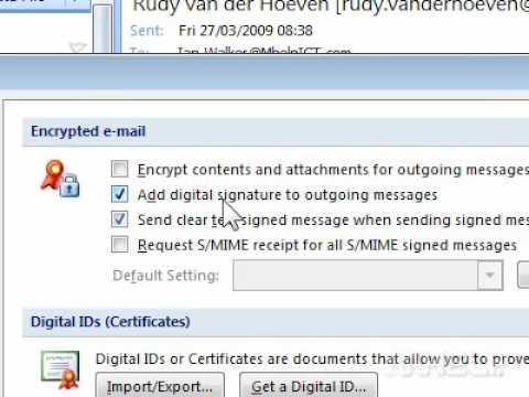 how to get a digital signature on outlook