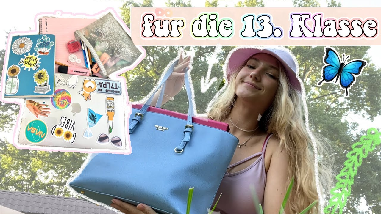 WHAT'S IN MY SCHOOLBAG Abitur Edition ✏️✰ Jackie Alice