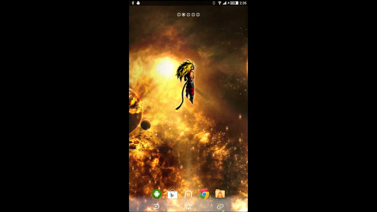 Dragon Ball Z : Worlds End Android Live Wallpaper - YouTube
