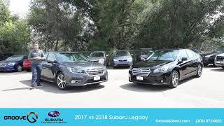 2018 Subaru Legacy vs 2017: what's the difference?