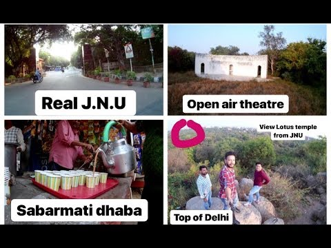 Another Side of J.N.U II Inside Jawaharlal Nehru University II Secret Places II JNU Hills