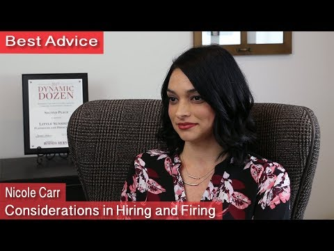 Best Advice - Considerations in Hiring and Firing