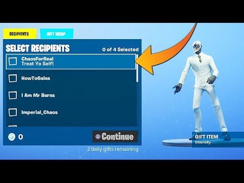 SENDING A GIFT LIVE IN FORTNITE!! (Gifting Activated)