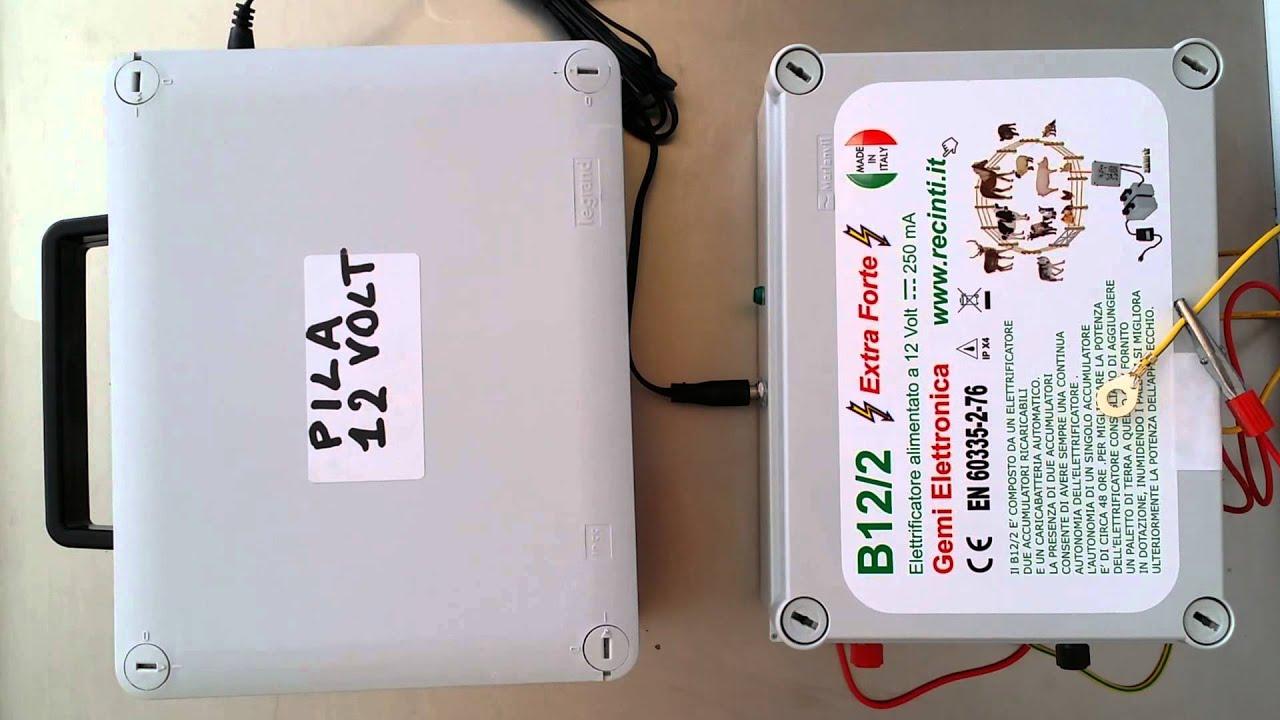 recinto elettrico electric fence b12 2 alimentato a