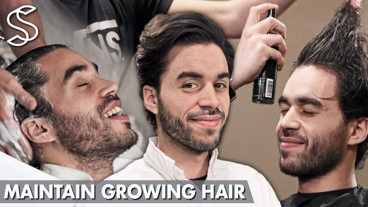 how to cut your own hair mens long