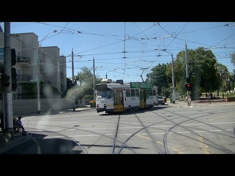 Driver's View East Brighton to Universtity  Part 1 to St Kilda Junction