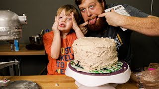 Father And Son Bake A cake / Baking A Cake