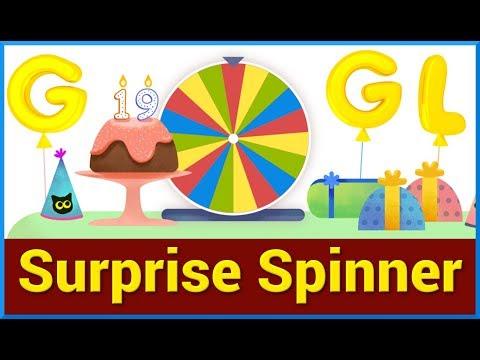 Google Birthday Surprise Spinner Youtube