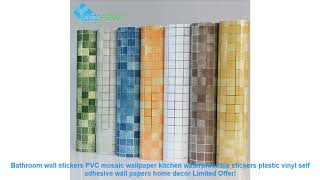 Bathroom wall stickers PVC mosaic wallpaper kitchen waterproof tile st
