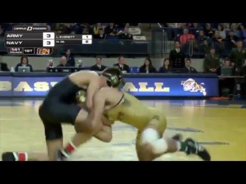 Navy Wrestling Vs. Army Highlights (2-20-16)