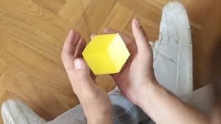 ЛЕТАЮЩИЙ КУБ#Как сделать 3D куб