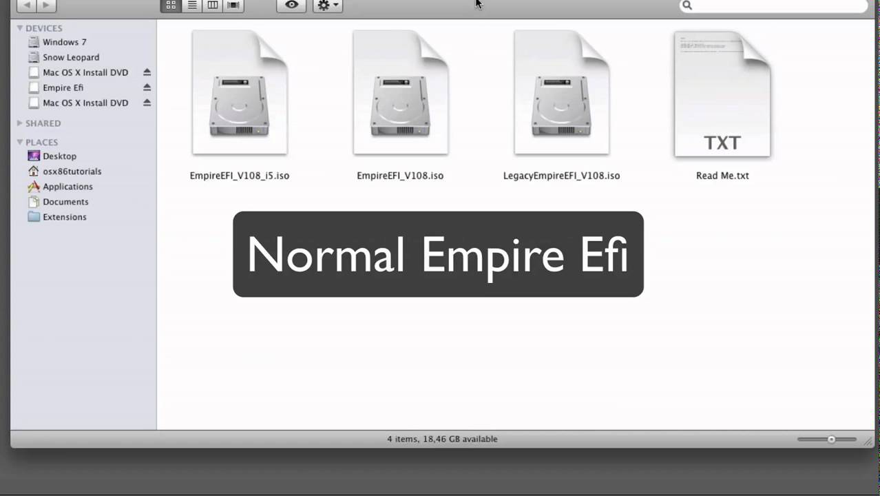 Install Mac OS X via USB Stick with Empire Efi