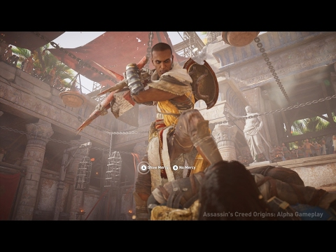 Assassin's Creed Origins: Gladiator Boss Fight Gameplay in 4K - E3 2017