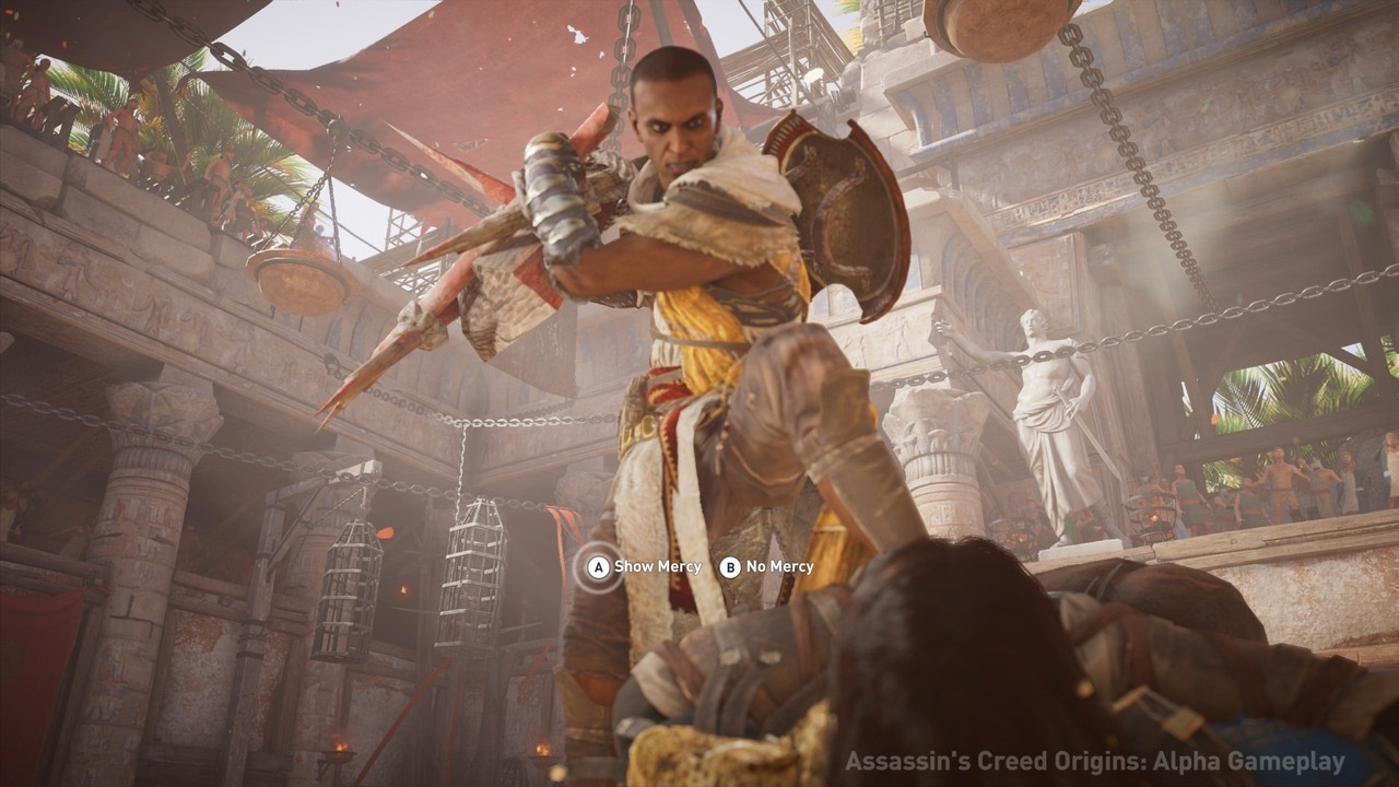 Assassin's Creed Origins: Gladiator Boss Fight Gameplay in ...