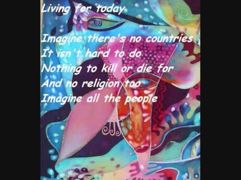 John Lennon - Imagine (Lyrics,HQ and german translation)