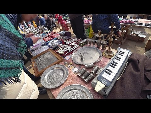 RUSSIAN FLEA MARKET SHOPPING ADVENTURE! Unexpectedly found another STRANGEST market inside