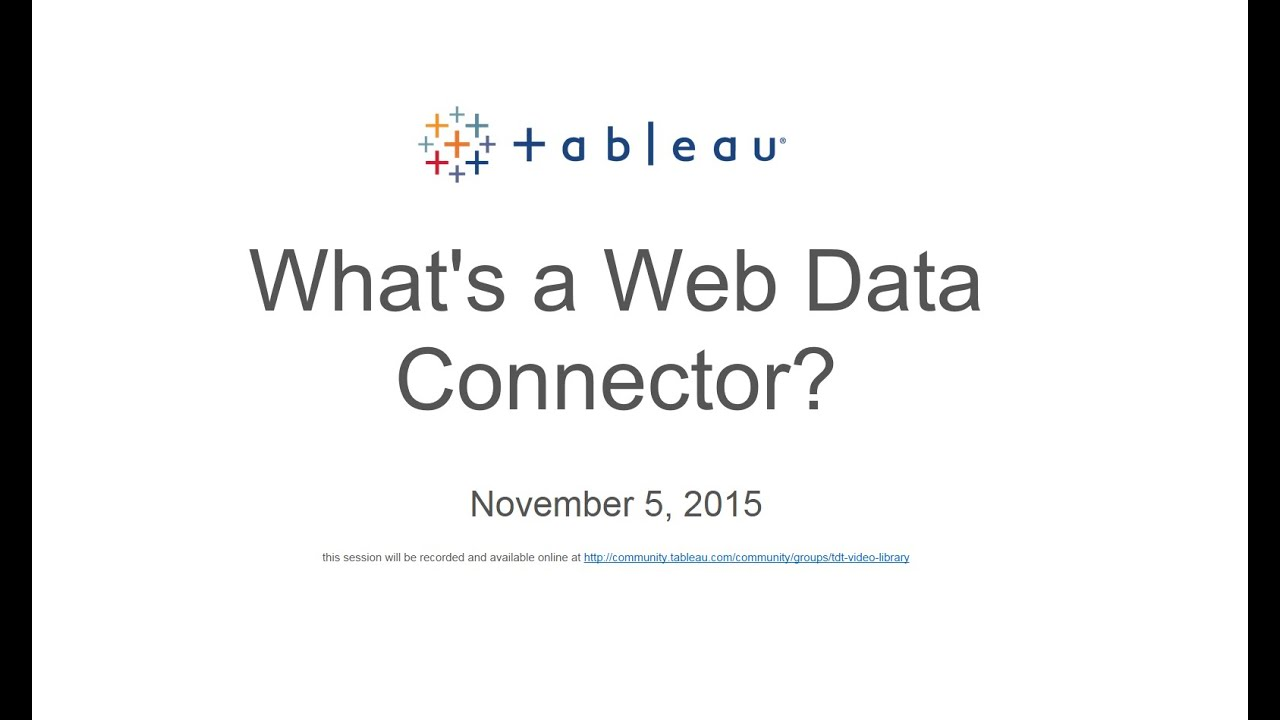 Tableau Web Data Connector in FIVE lines of code -Databoss