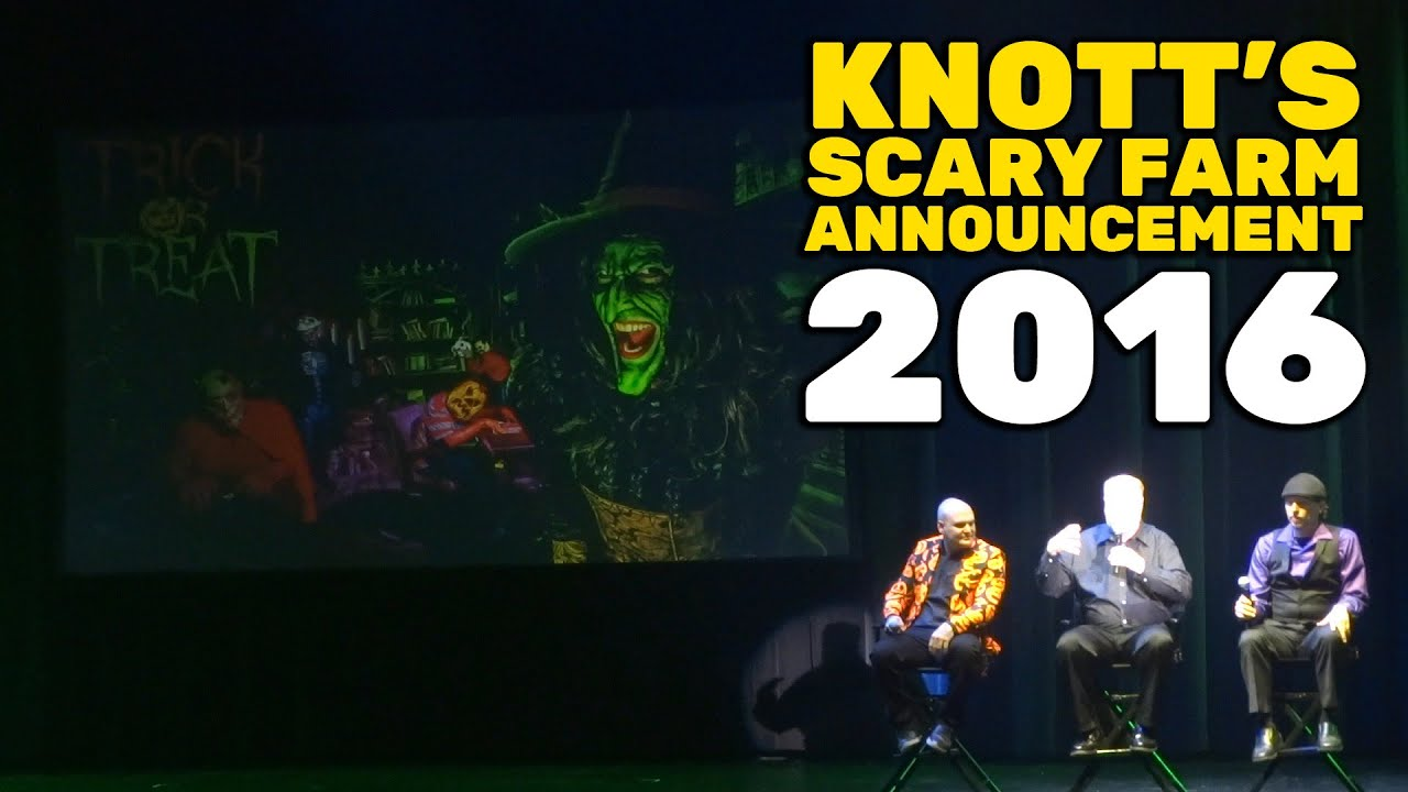 knotts scary farm 2016 full announcement event at knotts berry farm youtube - Knotts Berry Farm Halloween Tickets
