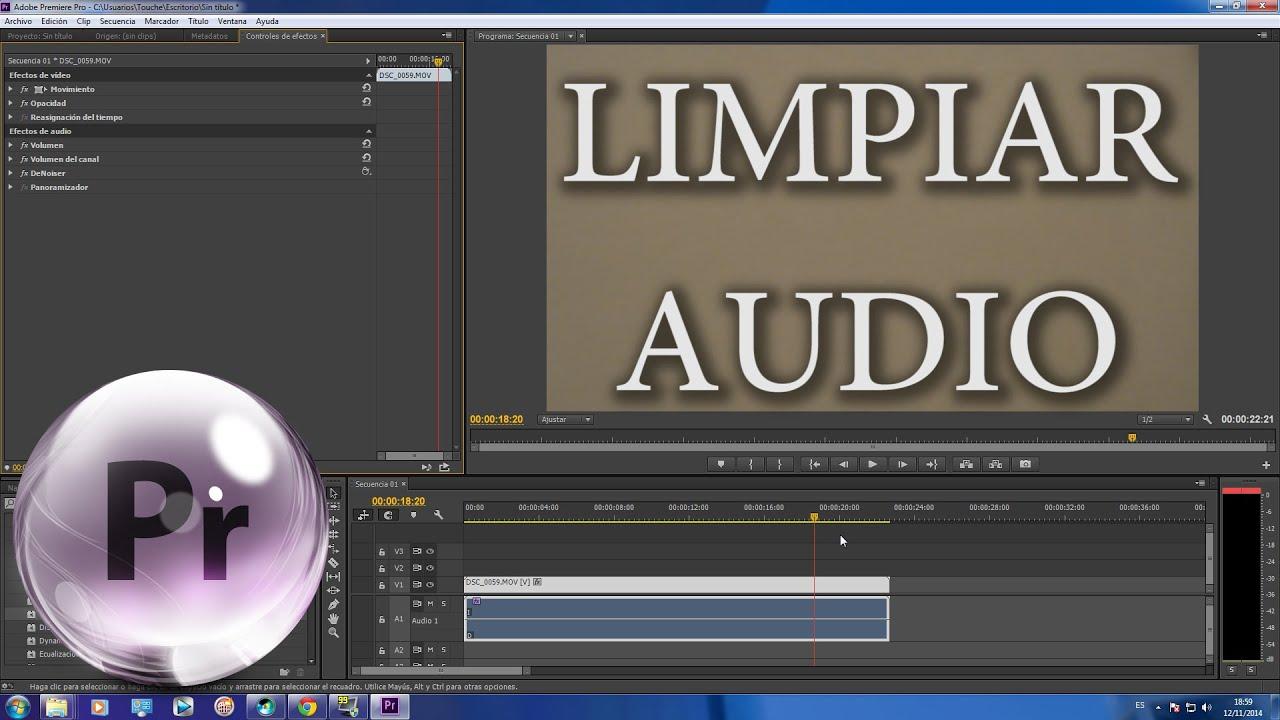 Como limpiar audio en premiere cc f cil y r pido youtube - Como limpiar rapido ...
