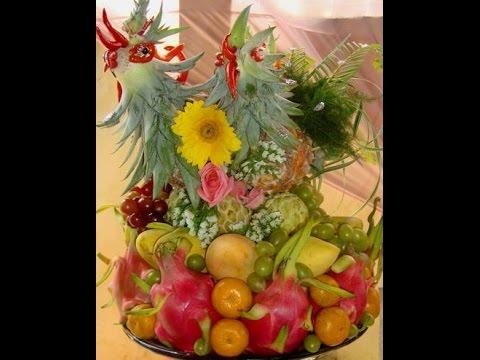 Hướng dẫn cách bày mâm ngũ quả và cắm hoa ngày tết