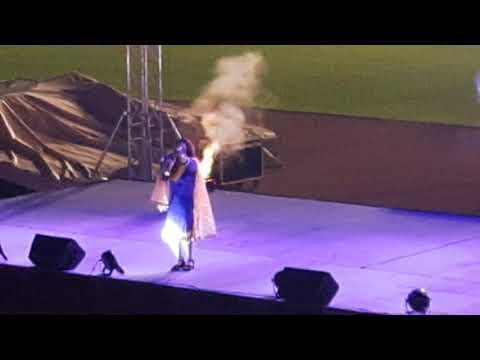 Nadia gul Qatar al wakra stage show