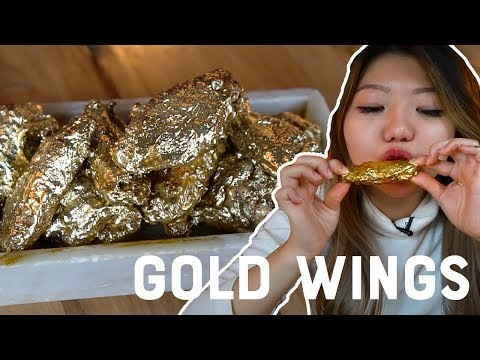 I Ate 24K GOLD CHICKEN WINGS! | Viral Foods in New York