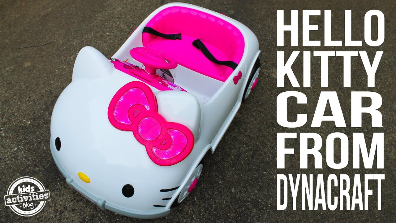 hello kitty car for toddlers from dynacraft