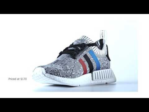 Adidas Nmd R1 White Trico Stripes