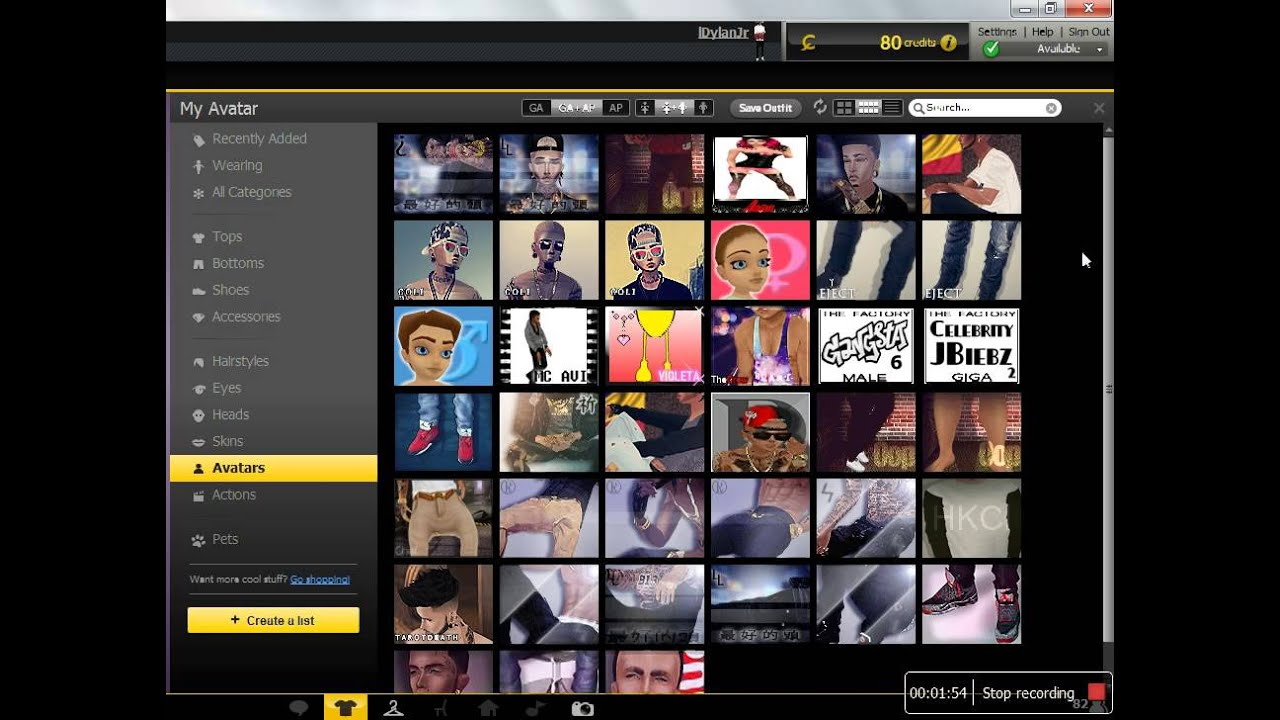 IMVU AP ACCOUNT FOR SALE OR TRADE
