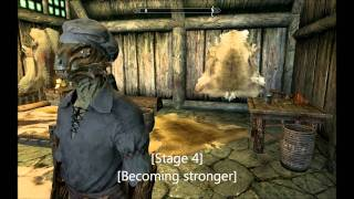 Repeat youtube video Skyrim: Argonian Vampire Progression
