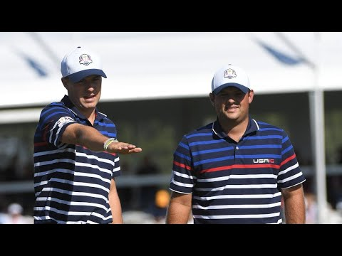 4cbb354ec01 Patrick Reed jokingly jabs Jordan Spieth while arguing with rules official