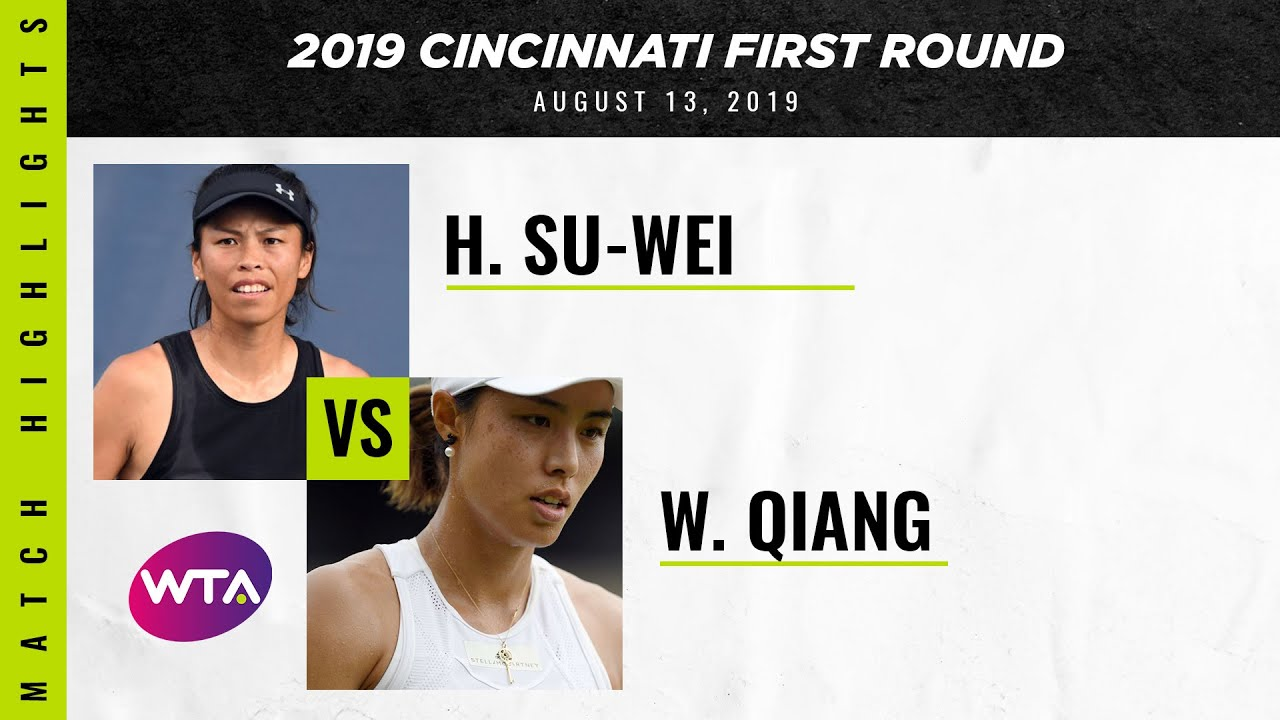 Hsieh Su-Wei vs. Wang Qiang | 2019 Western & Southern Open First Round | WTA Highlights