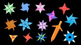 13 Easy #Origami Paper Ninja Star - How to Make Step by Step