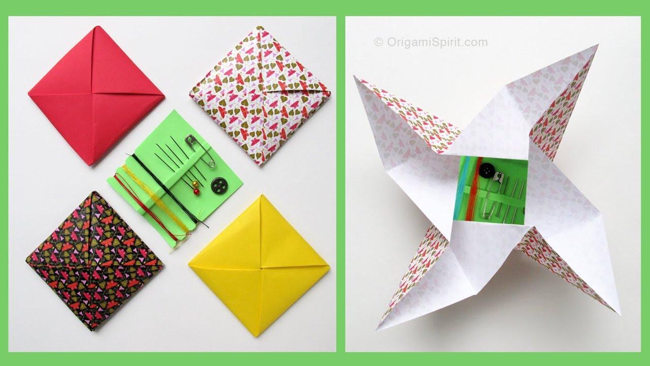 origami envelope menko sobre cuadrado youtube. Black Bedroom Furniture Sets. Home Design Ideas