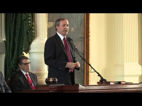 Ken Paxton Being Sworn In as Attorney General