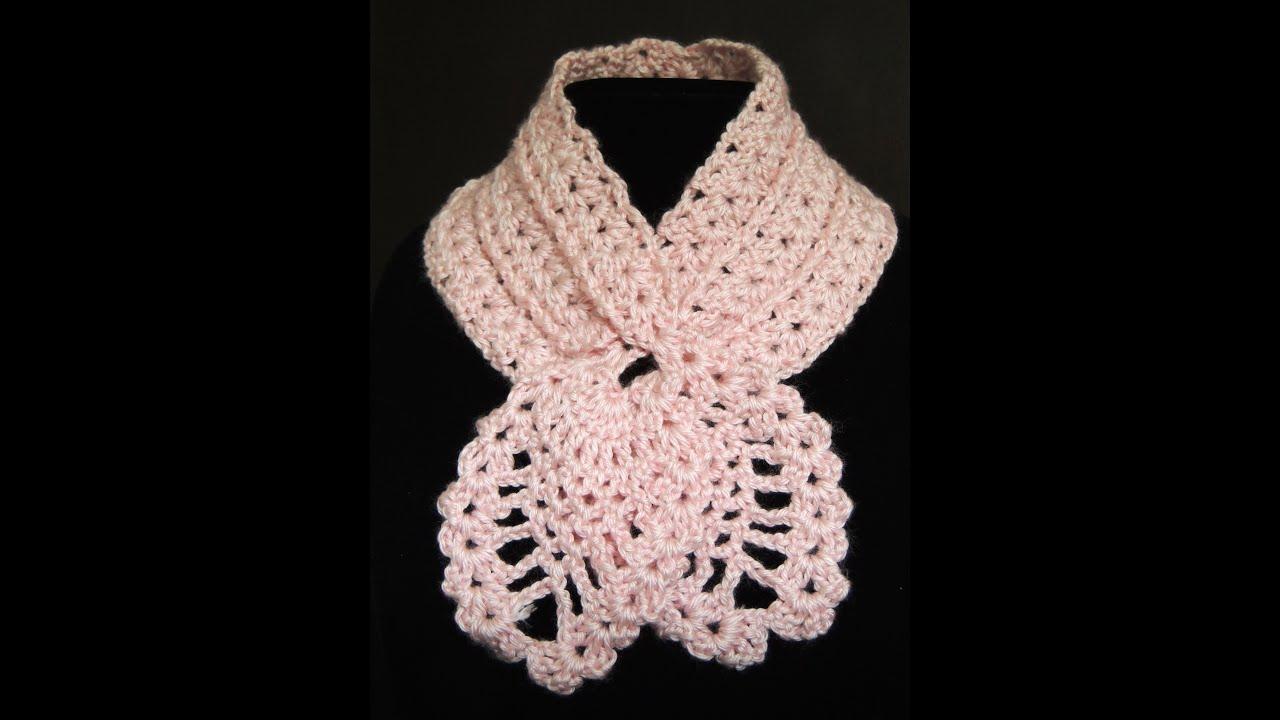 Crochet  Bufanda de Piñas. Parte 1 de 2