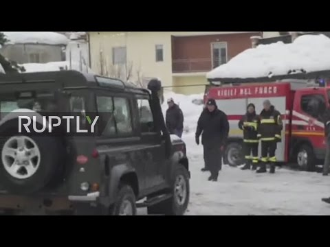 LIVE from central Italy after avalanche hits ski resort